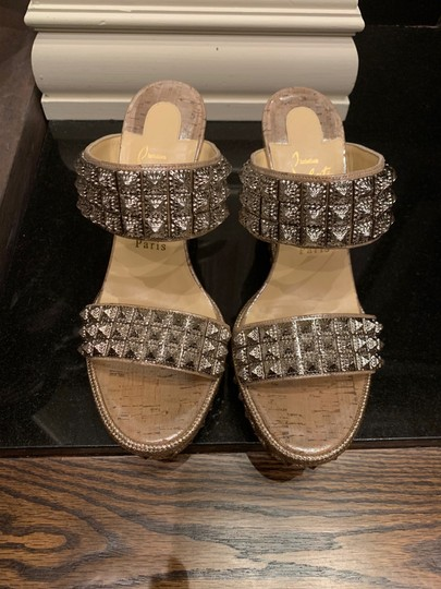 Christian Louboutin silver Wedges Image 3