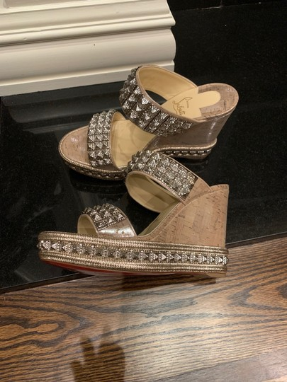 Christian Louboutin silver Wedges Image 4