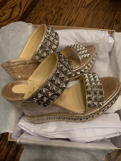 Christian Louboutin silver Wedges Image 7