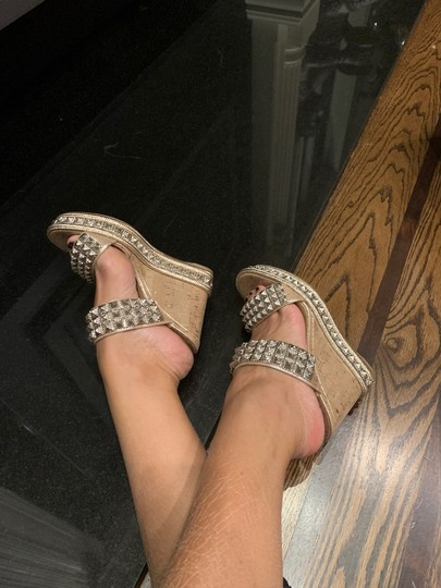 Christian Louboutin silver Wedges Image 8