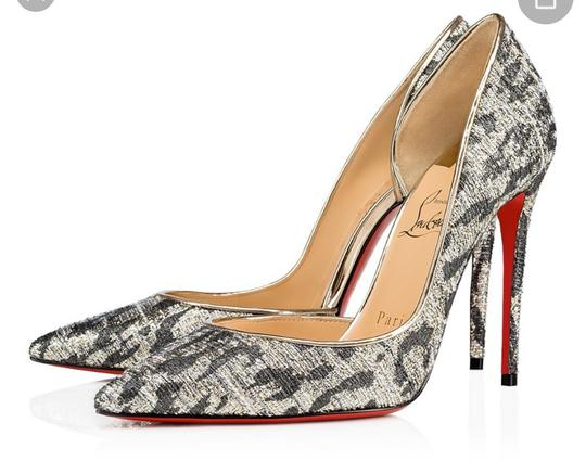 Preload https://img-static.tradesy.com/item/26530199/christian-louboutin-black-iriza-light-gold-gigi-lurex-stiletto-pumps-size-eu-37-approx-us-7-regular-0-0-540-540.jpg