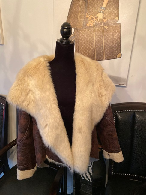 Other Brown Leather Jacket Image 1