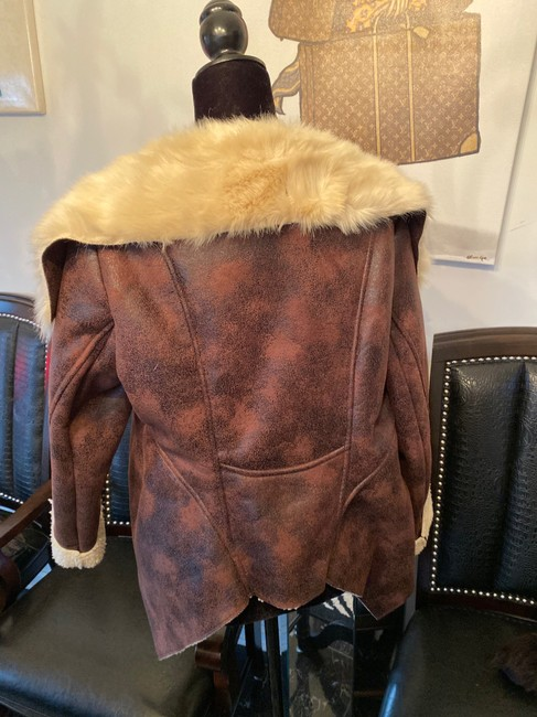 Other Brown Leather Jacket Image 3
