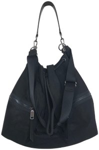 Henri Bendel Drawstring Travel Gym Nylon Durable Tote in Black