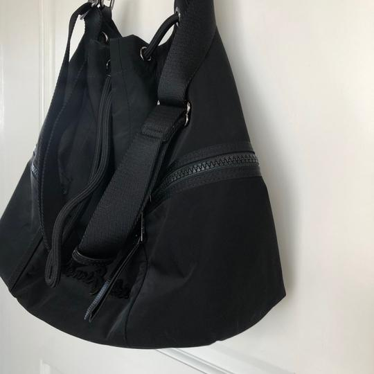 Henri Bendel Drawstring Travel Gym Nylon Durable Tote in Black Image 3
