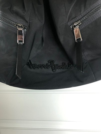 Henri Bendel Drawstring Travel Gym Nylon Durable Tote in Black Image 5