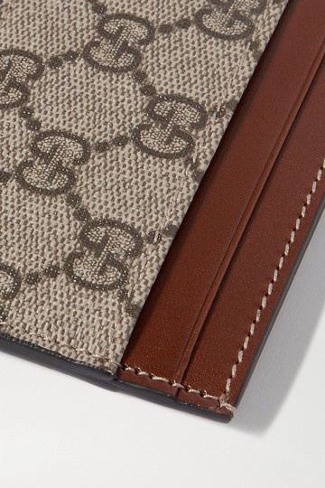 Gucci Linea leather-trimmed printed coated-canvas cardholder Image 3