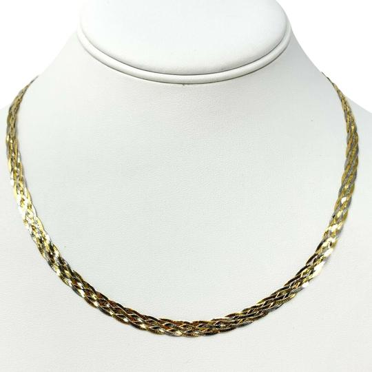Preload https://img-static.tradesy.com/item/26530357/14k-white-gold-two-tone-braided-weave-herringbone-link-18-necklace-0-1-540-540.jpg