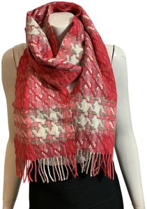 Burberry LONDON BURBERRY LONDON 1291219 $395 PINK WOVEN WITH METALLIC FLEX SCARF WRAP