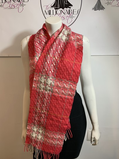 Burberry LONDON BURBERRY LONDON 1291219 $395 PINK WOVEN WITH METALLIC FLEX SCARF WRAP Image 1