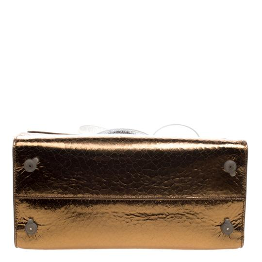 Dior Leather Gold Clutch Image 4