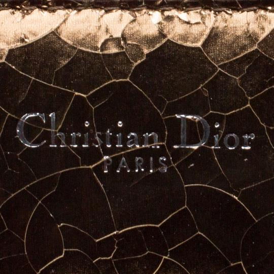 Dior Leather Gold Clutch Image 8