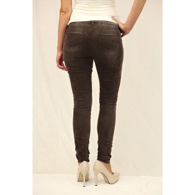 Silver Jeans Co. Monochrome Logo Metallic Hardware Skinny Pants Brown Image 2