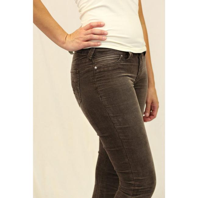 Silver Jeans Co. Monochrome Logo Metallic Hardware Skinny Pants Brown Image 4