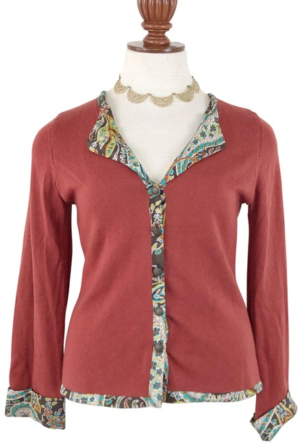 Preload https://img-static.tradesy.com/item/26530414/soft-surroundings-red-rust-cashmere-silk-cardigan-size-8-m-0-1-650-650.jpg
