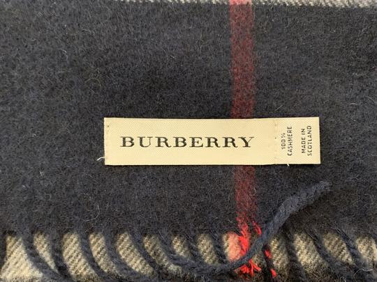 Burberry BURBERRY 1291219 $500 BLACK, WHITE, RED PLAID CASHMERE FRINGE SCARF Image 4