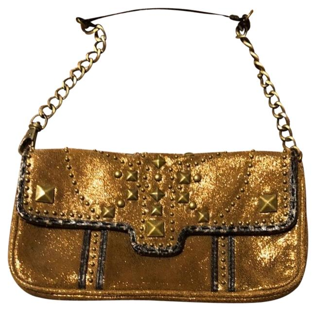 "Item - Golden Stud Bag/ Color Tan/ Golden Material : Leather Size: Small / L 8.7xw 3/4x H 5"" Aprox. Gentle Shoulder Bag"