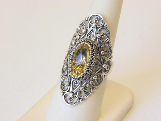 Other Ottoman Silver 2.5ct Citrine Elongated Ring Size 7 Image 5