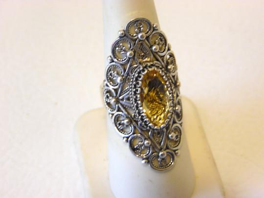 Other Ottoman Silver 2.5ct Citrine Elongated Ring Size 7 Image 7