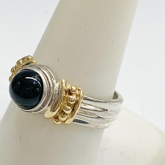 Other GORGEOUS!! Sterling Silver and 14 Karat Yellow Gold Black Onyx Ring Image 4