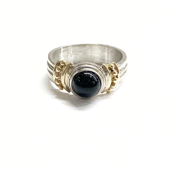 Other GORGEOUS!! Sterling Silver and 14 Karat Yellow Gold Black Onyx Ring Image 5