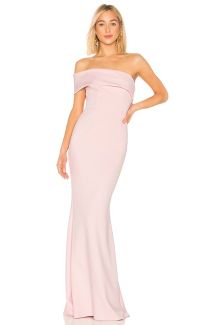 Preload https://img-static.tradesy.com/item/26530453/katie-may-blush-titan-off-the-shoulder-gown-long-formal-dress-size-6-s-0-0-650-650.jpg