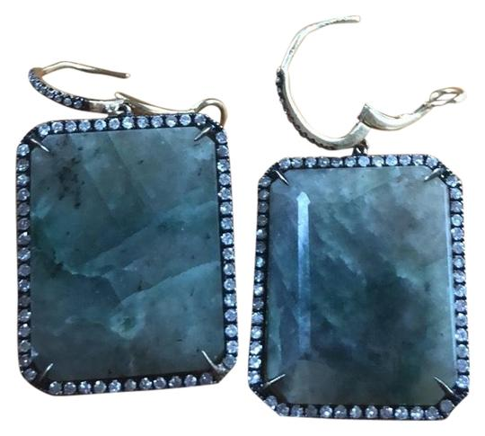 Preload https://img-static.tradesy.com/item/26530499/green-14k-diamond-and-sapphire-leverback-earrings-0-1-540-540.jpg