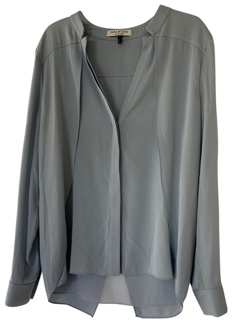 Preload https://img-static.tradesy.com/item/26530506/halston-light-blue-button-down-top-size-4-s-0-1-650-650.jpg