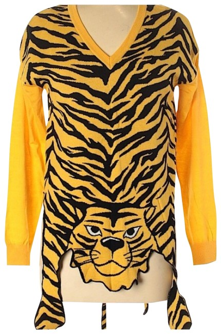 Preload https://img-static.tradesy.com/item/26530524/moschino-intarsia-tiger-yellow-sweater-0-1-650-650.jpg