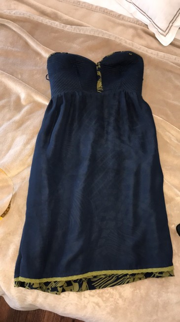 Anthropologie short dress blue and green on Tradesy Image 5