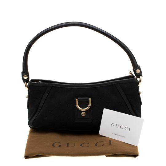 Gucci Leather Canvas Shoulder Bag Image 11