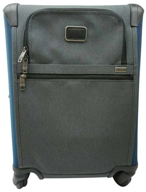 Item - Alpha 2 Short Trip Expandable Navy Suitcase Luggage 22064na2 Blue and Grey Nylon Weekend/Travel Bag