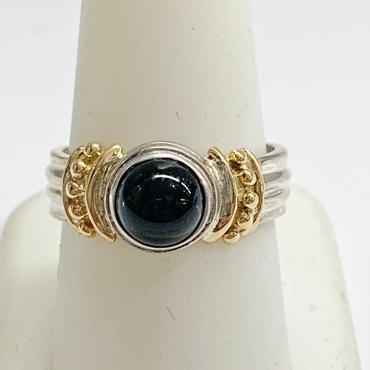 Other GORGEOUS!! Sterling Silver and 14 Karat Yellow Gold Black Onyx Ring Image 2