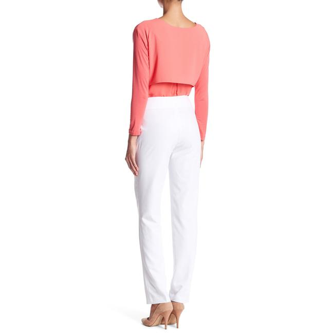 insight Monochrome Stretchy Straight Pants White Image 1