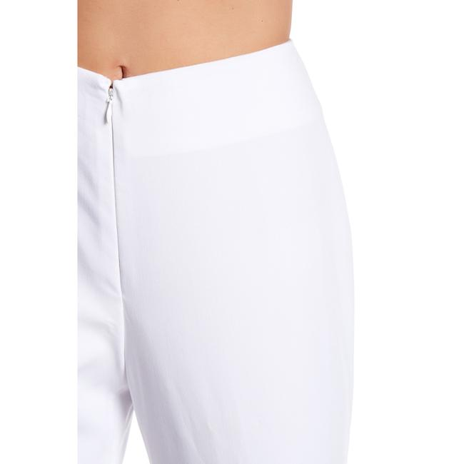 insight Monochrome Stretchy Straight Pants White Image 2