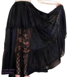 Handcrafted at Ameynra Maxi Skirt Black
