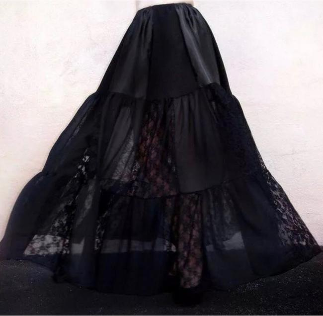 Handcrafted at Ameynra Maxi Skirt Black Image 1