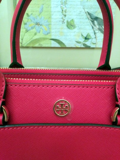 Tory Burch Robinson Double Zip Satchel Crossbody Tote in Red Image 10