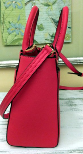 Tory Burch Robinson Double Zip Satchel Crossbody Tote in Red Image 3
