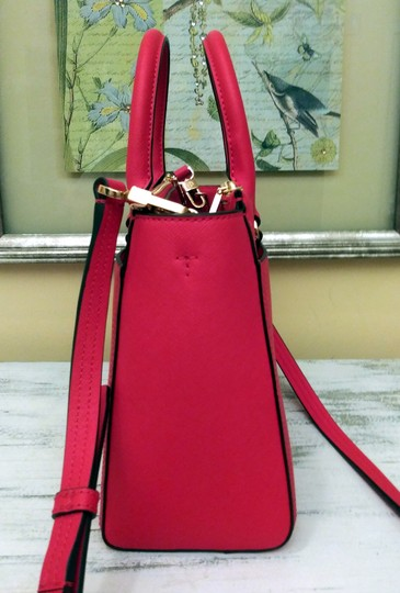 Tory Burch Robinson Double Zip Satchel Crossbody Tote in Red Image 4