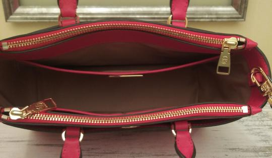 Tory Burch Robinson Double Zip Satchel Crossbody Tote in Red Image 9