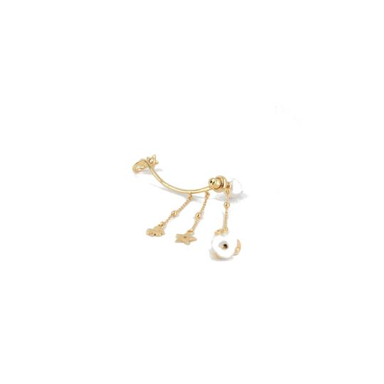 Dior Dior Large Pearl with Metallic Deco Earring Image 1