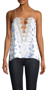 Cami NYC Top azure floral (white / blue)