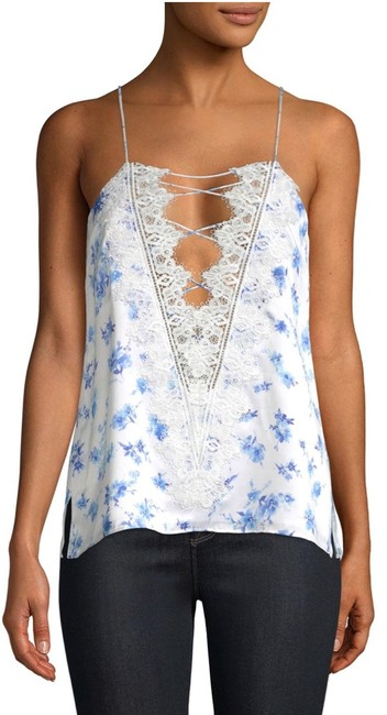 Cami NYC Top azure floral (white / blue) Image 1