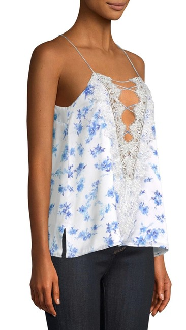 Cami NYC Top azure floral (white / blue) Image 3
