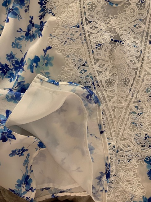 Cami NYC Top azure floral (white / blue) Image 5