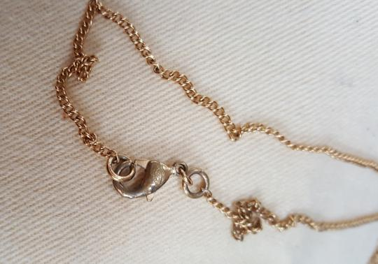 Chanel CHANEL Timeless CC Necklace Matte Gold Tone Byzantine Image 11