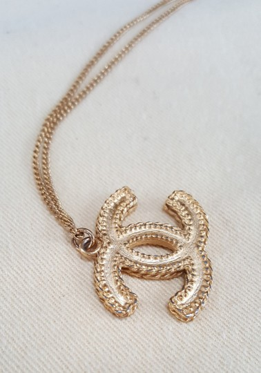 Chanel CHANEL Timeless CC Necklace Matte Gold Tone Byzantine Image 7