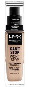 NYX NYX Can't Stop Won't Stop Foundation-Alabaster NWT