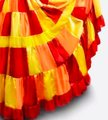 Handcrafted at Ameynra Maxi Skirt red orange yellow mix Image 2